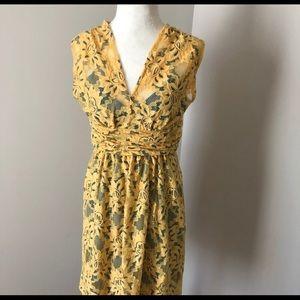 Anthropologie Yellow Latticelace Size 0 Dress